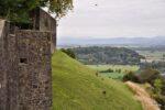 Schlossmauer und Panorama