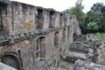 Teile der Außenmauer Dunfermline Abtei.