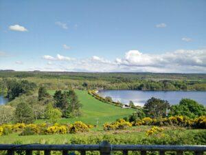 Blick von der Terrasse der Ferienwohnung