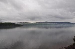 Nebel über Loch Ness