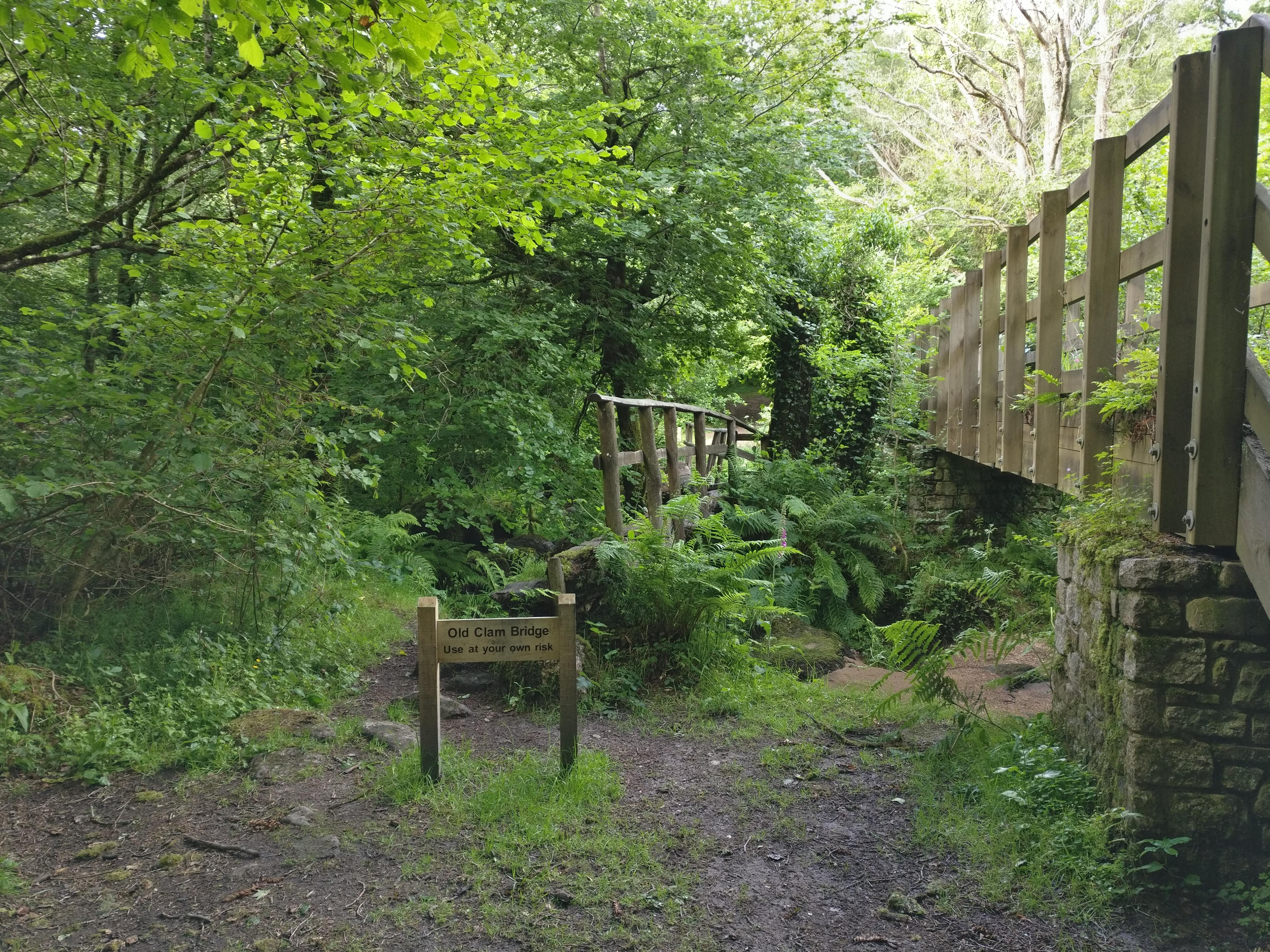 Schild alte Brücke