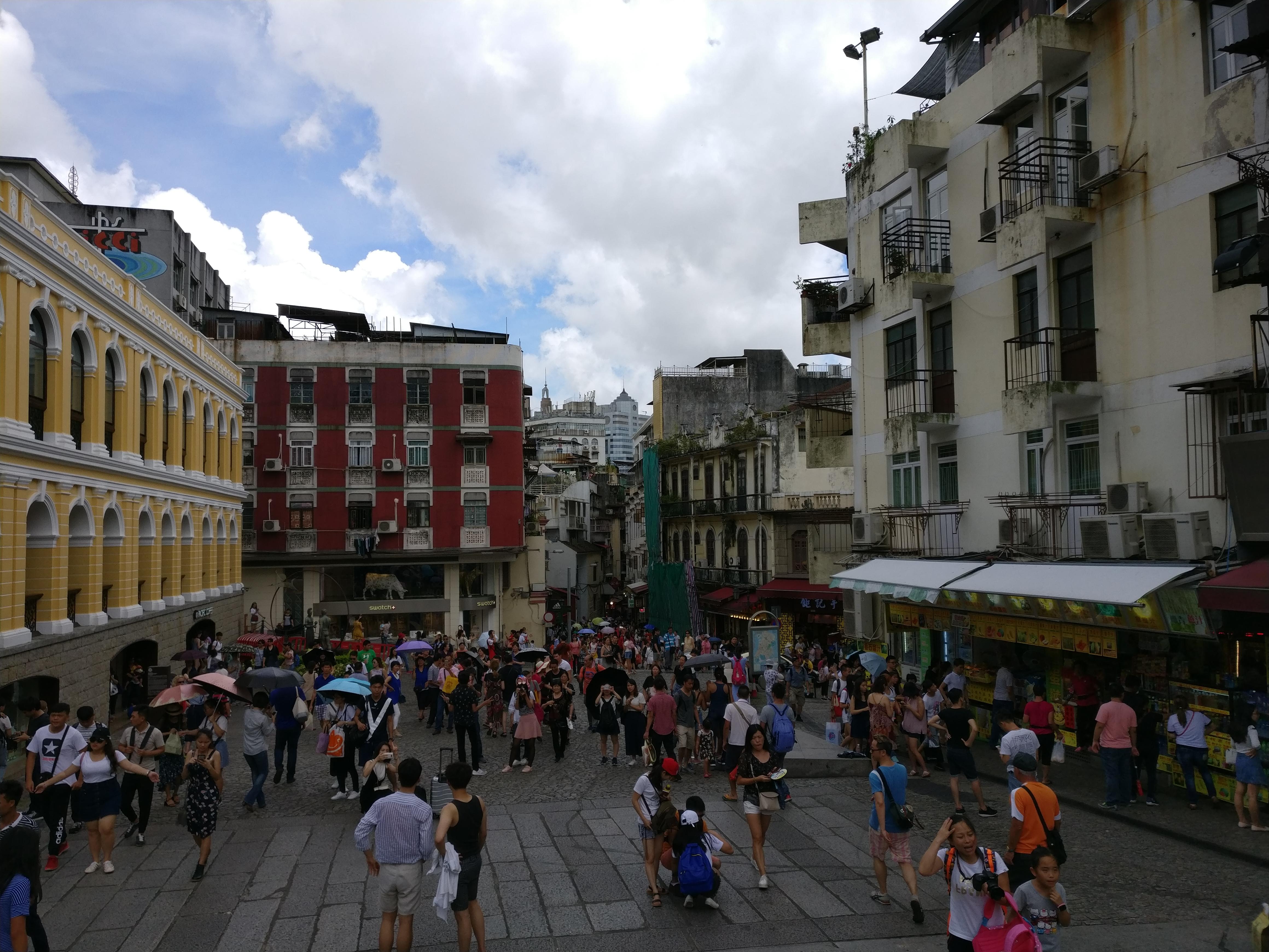 Macau: Blick zurück von der Ruine von St. Paul's Kathedrale