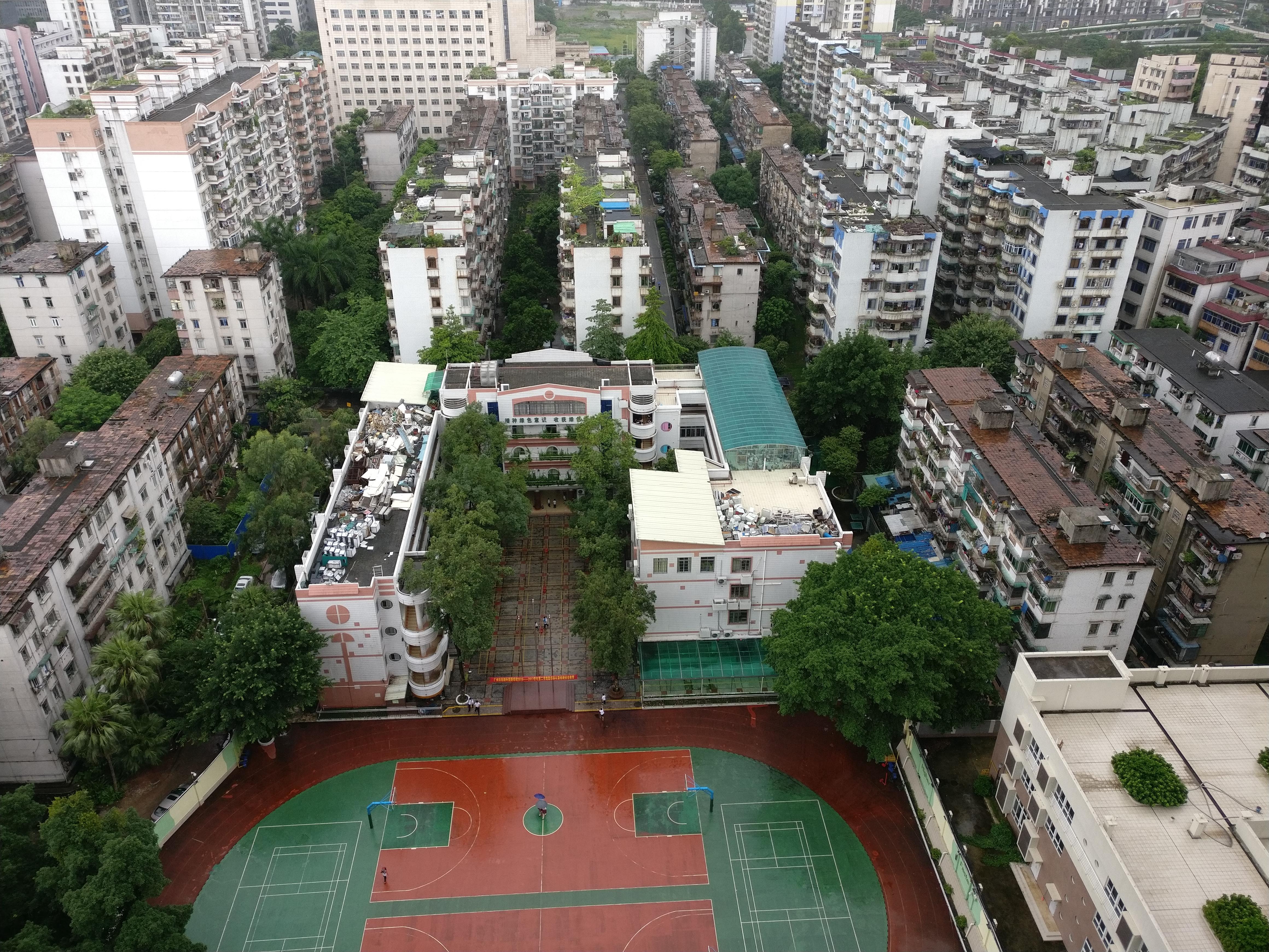 Dächer der Schule (??)