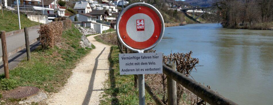 Vernünftige fahren hier nicht mit dem Velo.
