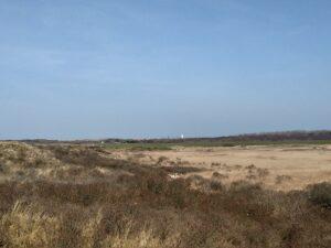 Blick Richtung Wasserturm auf/von Langeoog