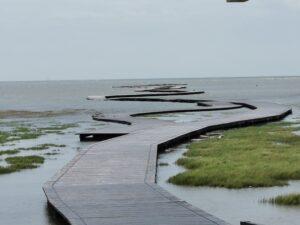 Gaomei Wetlands Steg ins Meer