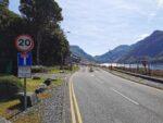 Zufahrt zum Dinorwig Wasserkraftwerk in Wales