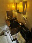 Waschbecken in der Emirates Lounge in Dubai