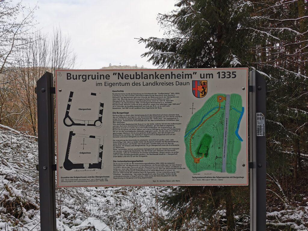 Infotafel Burg Neublankenheim