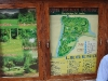 Plan des Botanischen Gartens am Eingang